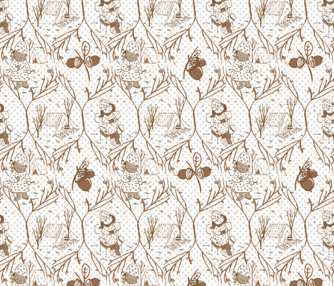camping ogee fabric by yun on Spoonflower - custom fabric