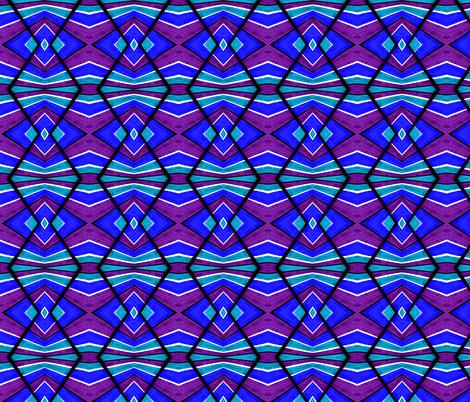 Blue Turquoise and Purple fabric by galleryhakon on Spoonflower - custom fabric