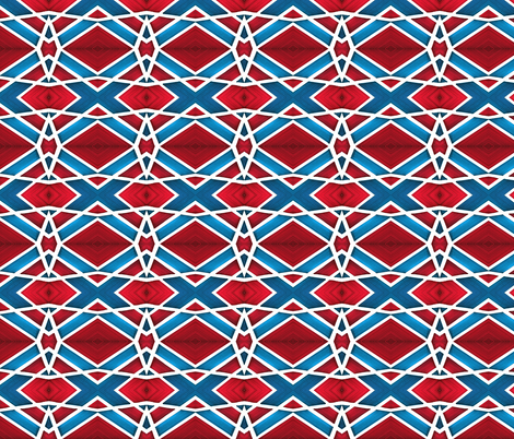 Lined Areas of Red and Blue fabric by galleryhakon on Spoonflower - custom fabric
