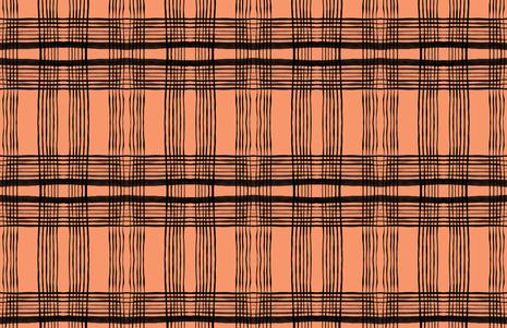 cestlaviv_kitchenplaid pumbkin fabric by cest_la_viv on Spoonflower - custom fabric
