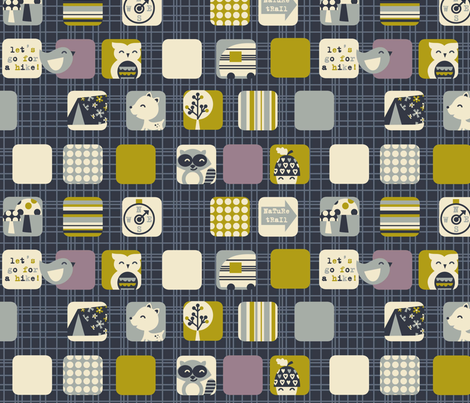 woodsy adventure fabric by amel24 on Spoonflower - custom fabric
