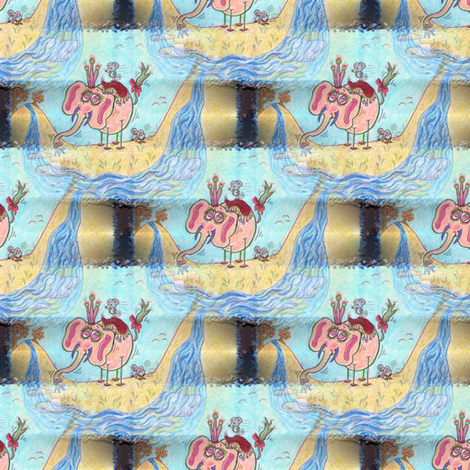 The Little Elephant II fabric by amy_g on Spoonflower - custom fabric