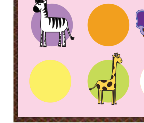 Zoo Snooze fabric by uniquesaddlepads on Spoonflower - custom fabric