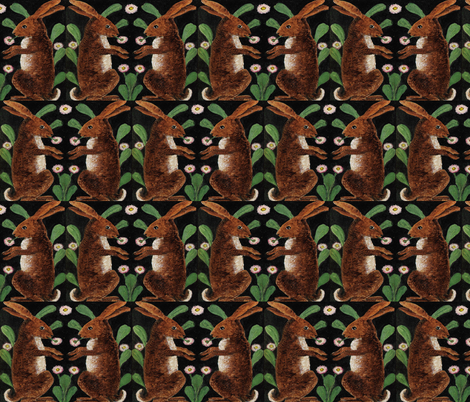 BUNNY LOVE fabric by bluevelvet on Spoonflower - custom fabric