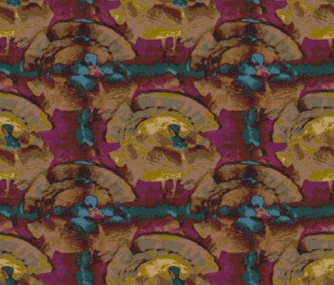 Gobble, gobble! fabric by anniedeb on Spoonflower - custom fabric