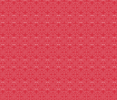 Bows in rose fabric by loopy_canadian on Spoonflower - custom fabric