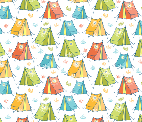 Camping fabric by oksancia on Spoonflower - custom fabric