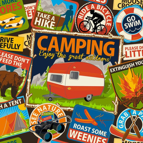 The Do's and Don'ts of Camping ~ Brown