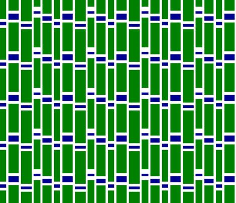 Preppy Stripes (Green/Blue) fabric by stitching_dvm on Spoonflower - custom fabric