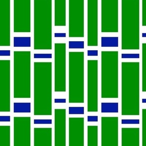 Preppy Stripes (Green/Blue)