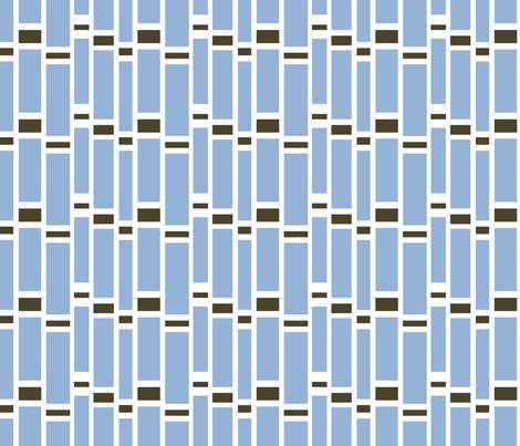 Preppy Stripes (Powder Blue/Brown) fabric by stitching_dvm on Spoonflower - custom fabric