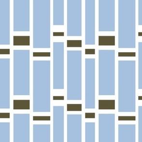 Preppy Stripes (Powder Blue/Brown)