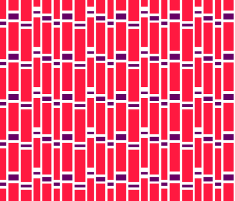 Preppy Stripes (Red/Purple) fabric by stitching_dvm on Spoonflower - custom fabric