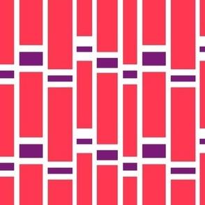 Preppy Stripes (Red/Purple)