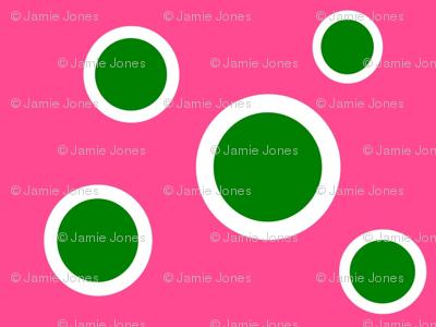 Preppy Dots (Pink/Green)