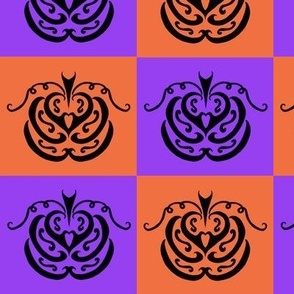 Pumpkin Checkers 1