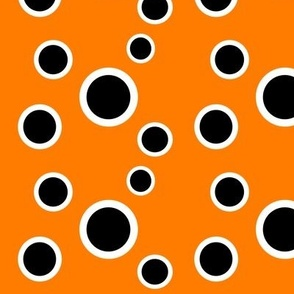 Preppy Dots (Orange/Black)