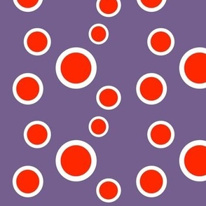 Preppy Dots (Purple/Red)