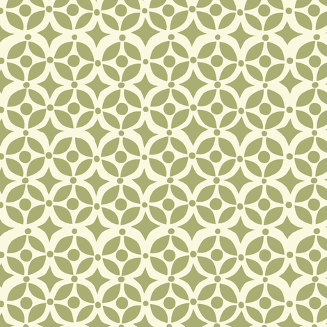 Nesting geometric GREEN fabric by bzbdesigner on Spoonflower - custom fabric