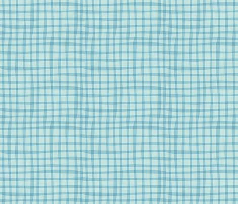 Nesting blue gingham fabric by bzbdesigner on Spoonflower - custom fabric