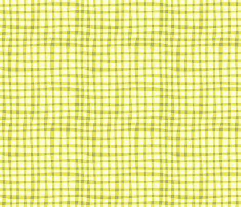 Nesting green gingham fabric by bzbdesigner on Spoonflower - custom fabric