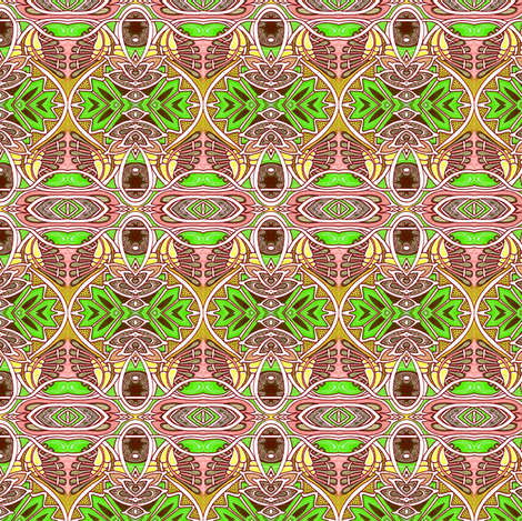 Egyptian Revival Deco Jungle Christmas Orbs fabric by edsel2084 on Spoonflower - custom fabric