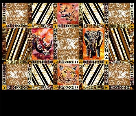 Rafrican_wild_animal_quilt__2_part__bottom_half_shop_preview