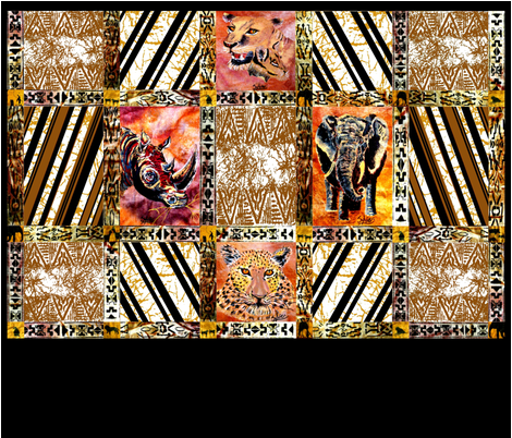 African_Wild_Animal_Quilt_Bottom_Half fabric by house_of_heasman on Spoonflower - custom fabric