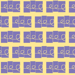 Doodling - small, pale yellow and lavender