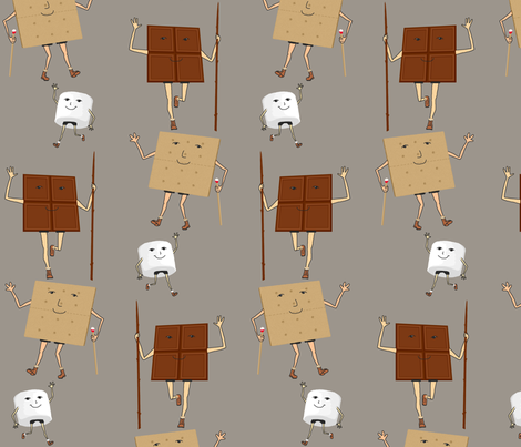 Favorite camping friends (swatch view for details) fabric by victorialasher on Spoonflower - custom fabric