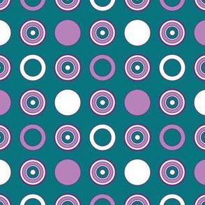 Teal Dots & Hoops