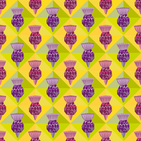 Tiny Thislte fabric by creative_cat on Spoonflower - custom fabric