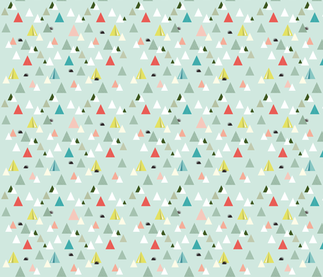 Camping in hedgehog land fabric by happy_to_see on Spoonflower - custom fabric