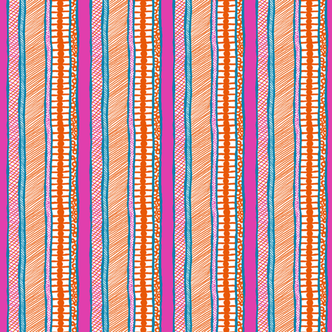 BeachHat: Vertical Stripe Coordinate fabric by tallulahdahling on Spoonflower - custom fabric