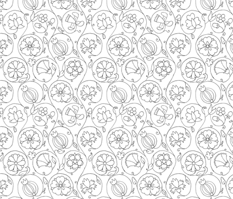 Blackwork 1 fabric by thepixelpinup on Spoonflower - custom fabric