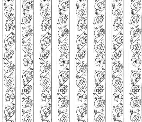 Blackwork 3a fabric by thepixelpinup on Spoonflower - custom fabric