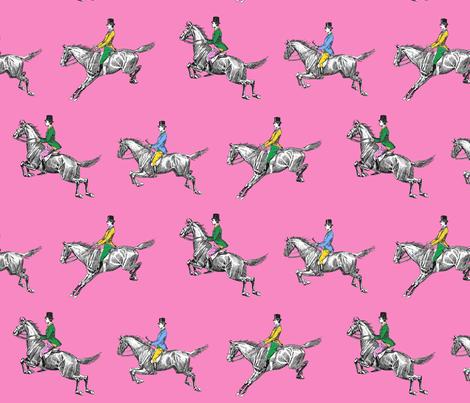 Three Gentlemen - pink fabric by ragan on Spoonflower - custom fabric