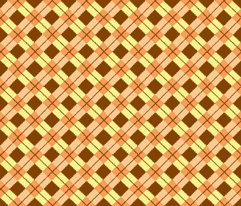 pink and red argyle on black-ch-ch-ch fabric by cricketnoel on Spoonflower - custom fabric
