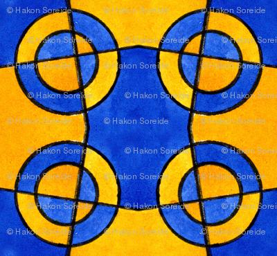 Blue and Yellow Circles