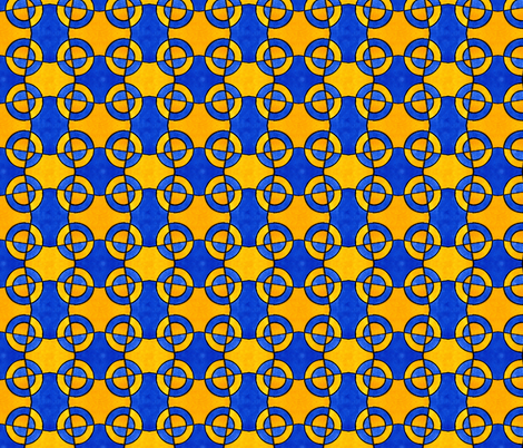 Blue and Yellow Circles fabric by galleryhakon on Spoonflower - custom fabric