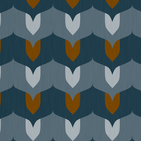 Leaves - winter fabric by thecalvarium on Spoonflower - custom fabric