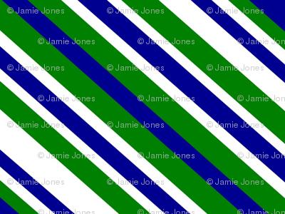 Preppy Diamonds (Green/Blue)