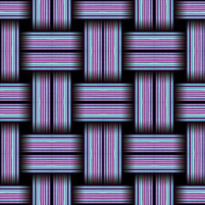 Striped Weave Pink and Turquoise