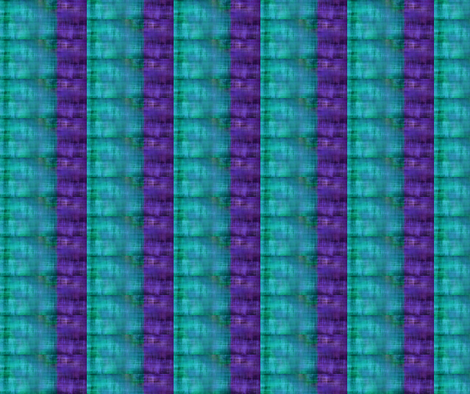 Lake House Stripe Peacock/Ultraviolet - 1 fabric by tequila_diamonds on Spoonflower - custom fabric