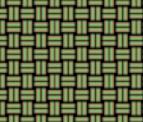 Striped Weave Green and Red fabric by galleryhakon on Spoonflower - custom fabric