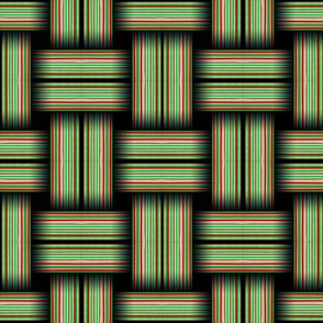 Striped Weave Green and Red