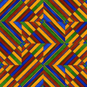 Quadrichrome Chaotic Pattern