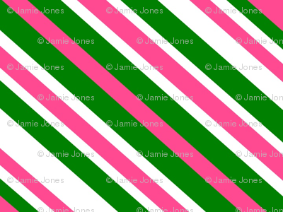 Preppy Diamonds (Pink/Green)