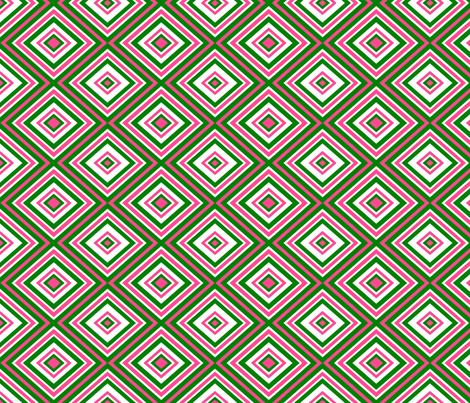Preppy Diamonds (Pink/Green) fabric by stitching_dvm on Spoonflower - custom fabric