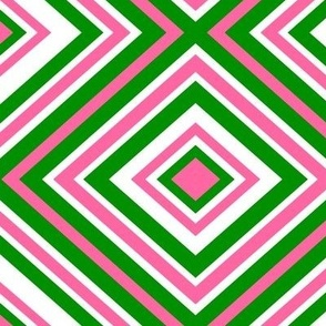 Preppy Diamonds (Pink/Green)